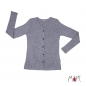 Preview: ManyMonths MaM Cardigan - Silver Cloud