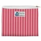 Preview: Planet Wise Zipper Snack Bag - Pink Stripes