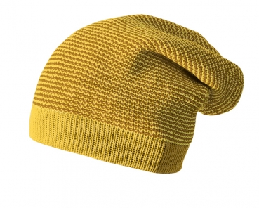 Disana Longbeanie Mütze - Curry-Gold