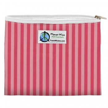 Planet Wise Zipper Snack Bag - Pink Stripes