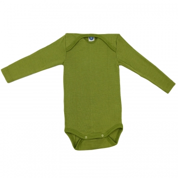 Cosilana Baby-Body (Langarm) aus Wolle/Seide