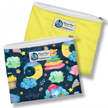 Planet Wise Zipper Snack Bag - Doppelpackung - Polyester