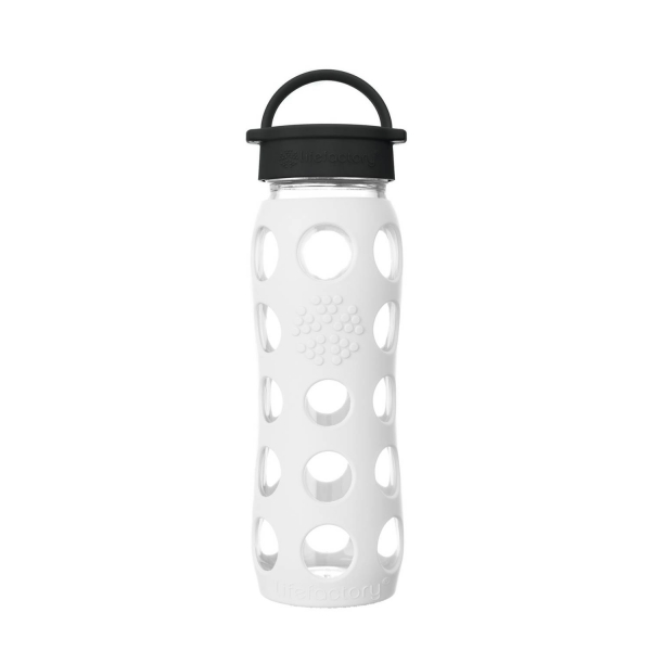 Lifefactory Glasflasche Kollektion 2018 - 650ml - Weiß