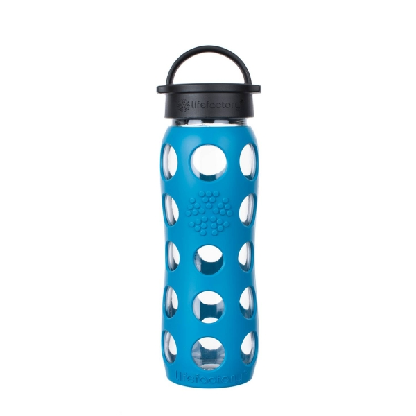 Lifefactory Glasflasche - 650ml - Teal Lake