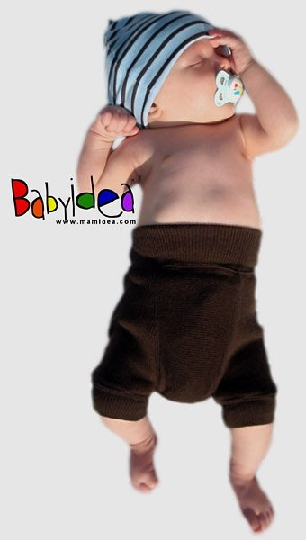 ManyMonths (BabyIdea) Woll-Shorties - Chocolate Brown